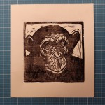 cosimo miorelli,woodcut,cosimomiorelli,czm,chimp,scimmia