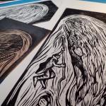 woodcut,print,handprint,cosimo miorelli,cosimomiorelli,czm,whale
