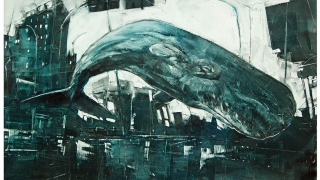 whale,wal,pottwal,cosimomiorelli,czm,miorelli,painting,illustration,flying,oil,kodak,fujifilm